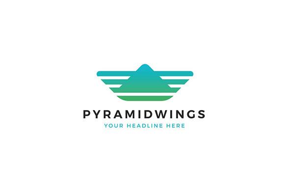 Pyramid Wings Logo Template