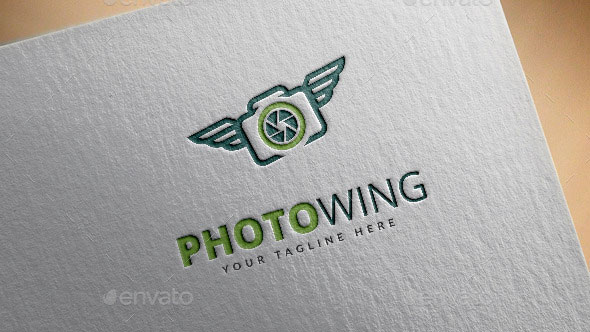 Photo Wing Logo Template
