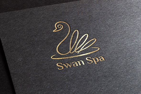 Swan Spa Logo Template