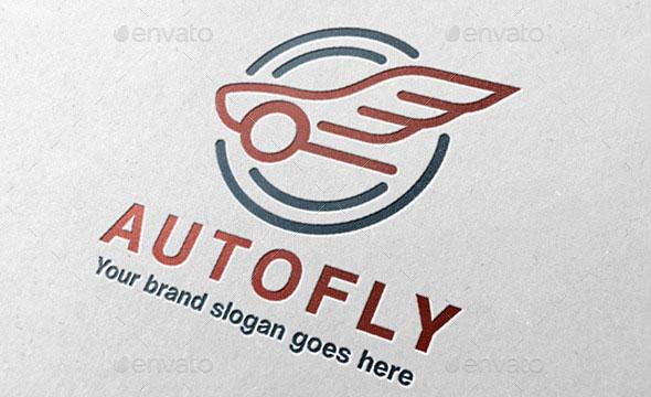 Auto Fly Car Logo