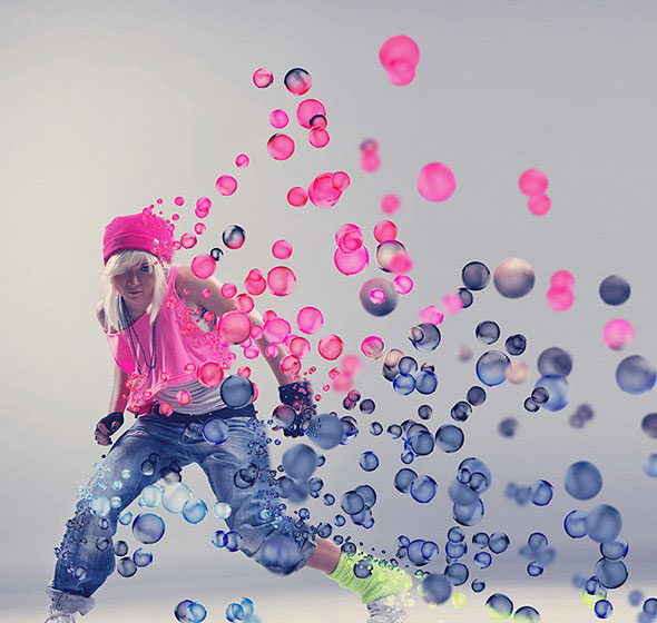 3D Bubbles Photoshop Action