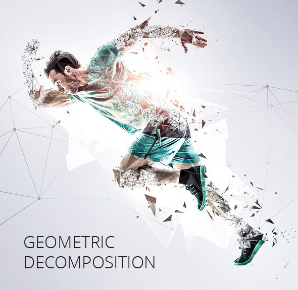 Geometric Decomposition Photoshop Action