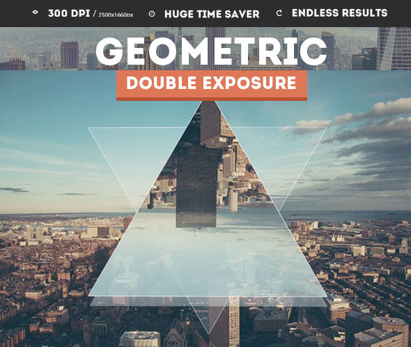 Geometric Double Exposure Photoshop Creator