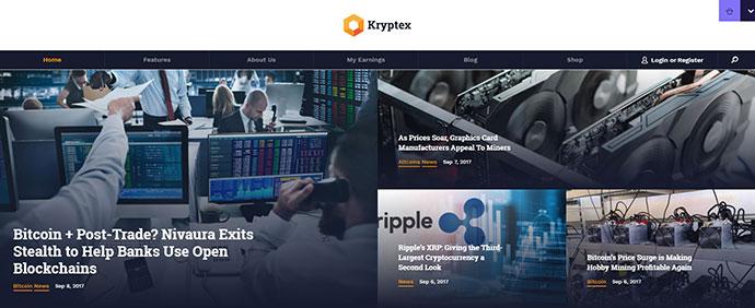 Kryptex | Cryptocurrency & Mining WP Theme
