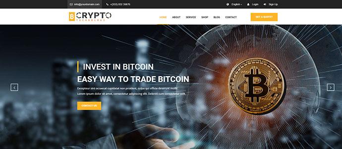 Crypto - Bitcoin Crypto Currency Template