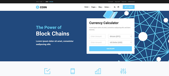 Bcoin | Bitcoin Website Template