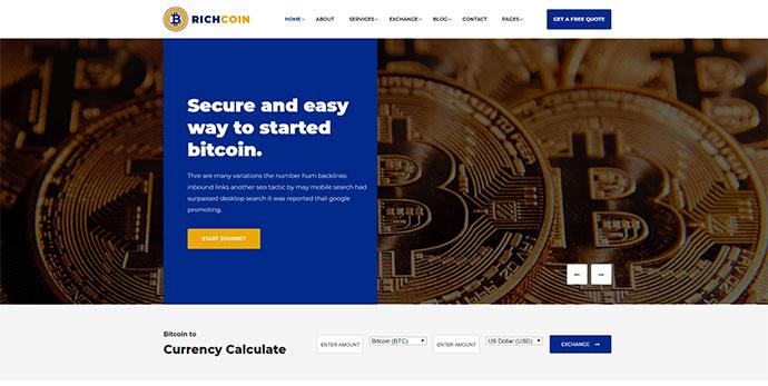 Richcoin - Bitcoin Crypto Currency Template