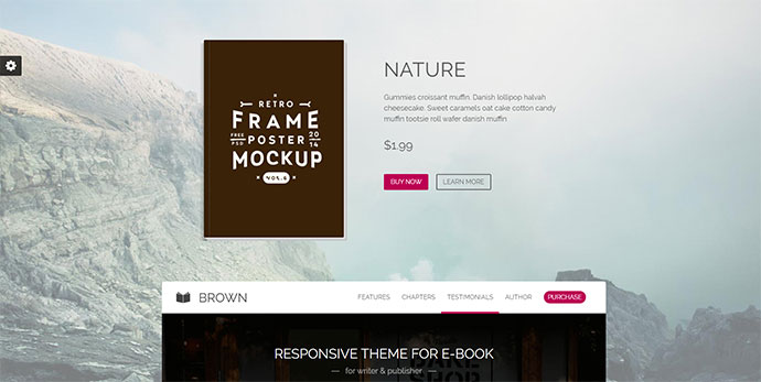 Brown - Responsive WordPress Theme for eBook