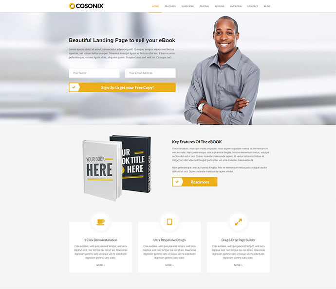 Cosonix - One-Page Theme for eBook, App and Agency