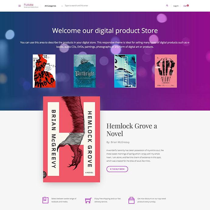 Pustaka - WooCommerce Theme For Book Store