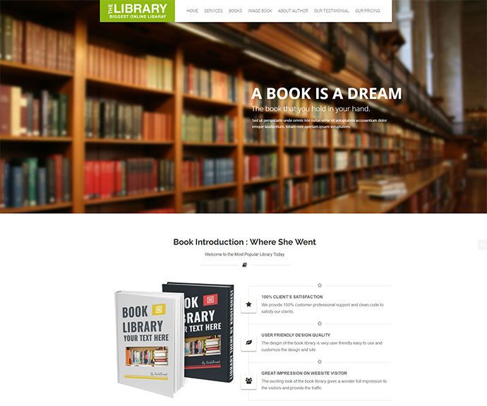 Book Store WordPress Theme - Book Store WP