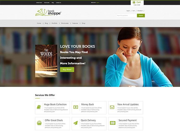 Book Store Responsive WooCommerce Theme