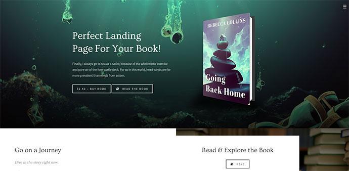 Novela - Book Landing & Reading Theme