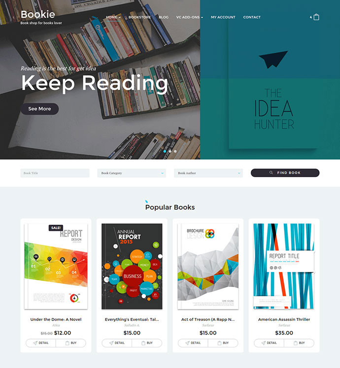 Bookie - WordPress Theme for Books Store