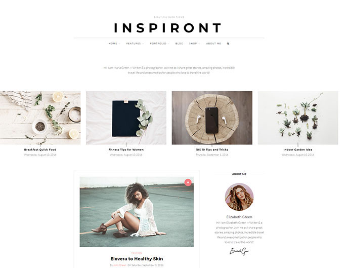 Inspiront - A Responsive WordPress Blog Theme