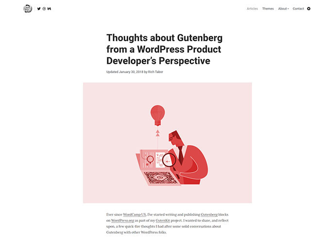 Tabor — Blog WordPress theme for Professional Writers & Coaches