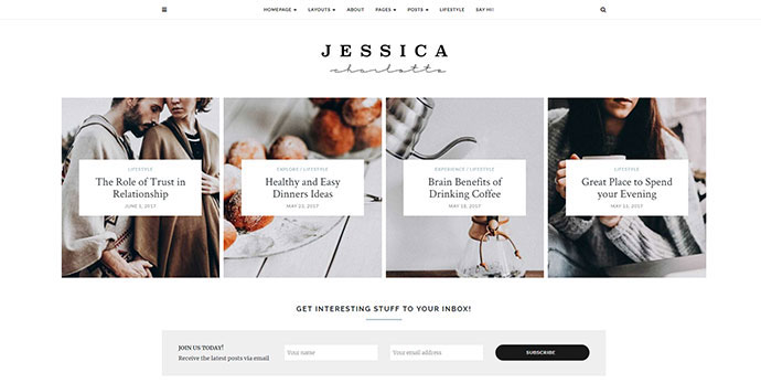 Jessica - Simple & Elegant Personal WordPress Theme