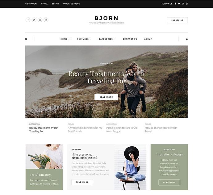 Bjorn - Personal WordPress Blog Theme