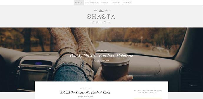 Shasta - A Responsive WordPress Theme For Lifestyle Bloggers