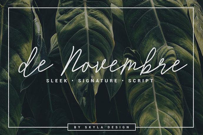 Signature script, de Novembre