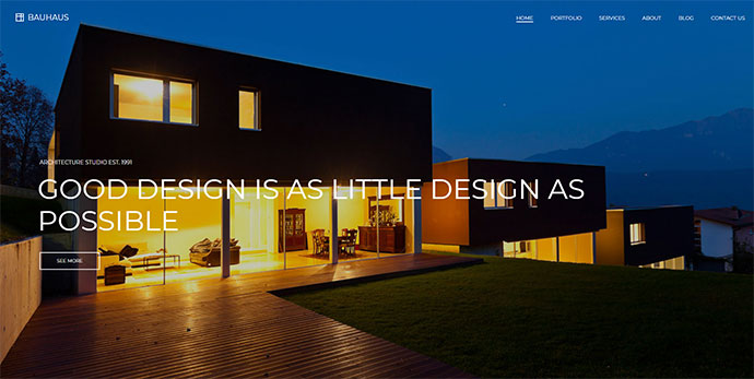 Bauhaus - Architecture & Portfolio WordPress Theme