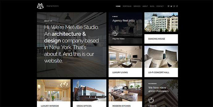 Melville – Architecture WordPress Theme