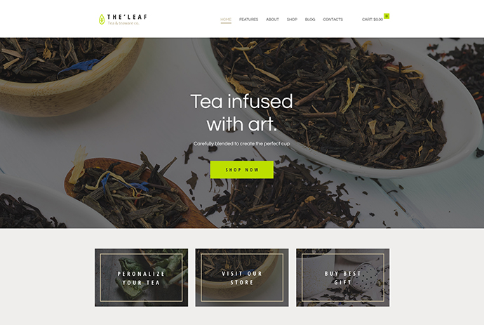 TheLeaf - Tea Production Company & Online Tea Shop