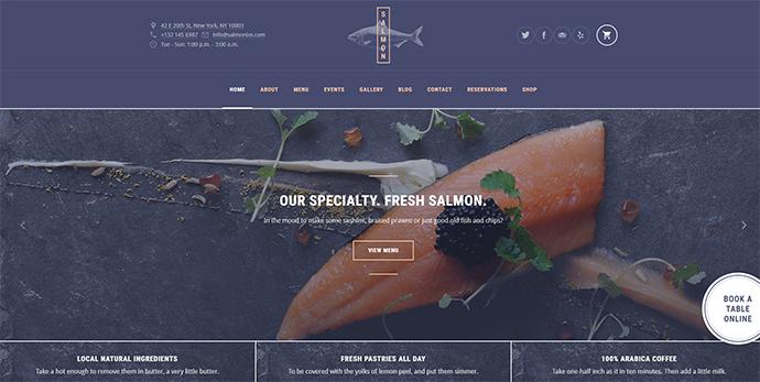 Salmon: A Beautiful Multi-Purpose Restaurant WordPress Theme