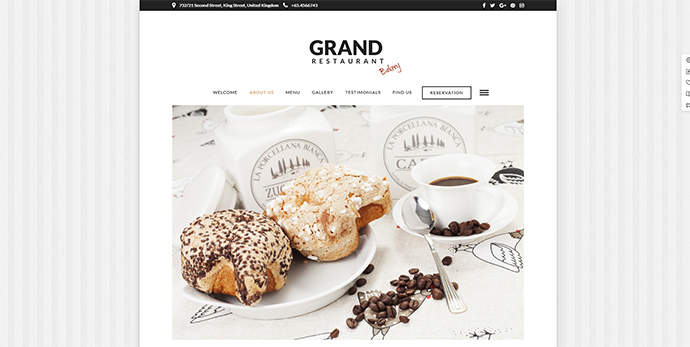 Grand Restaurant | Cafe Restaurant WordPress for Restaurant