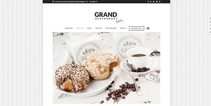 Grand Restaurant | Cafe Restaurant WordPress for Restaurant