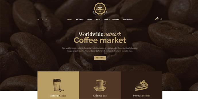 Mister Coffee - Coffee Market Online Store WordPress Theme