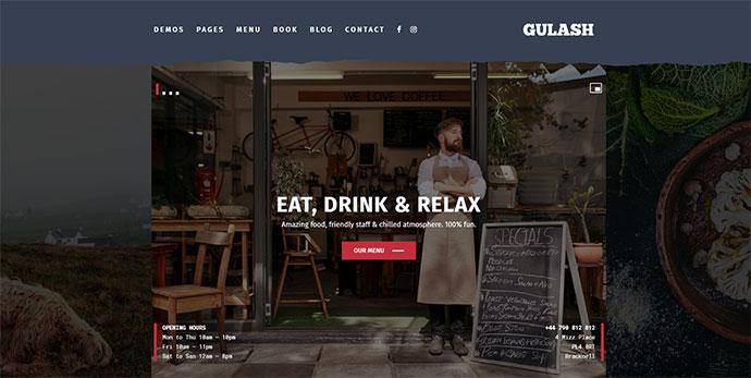 Gulash - delicious restaurant & coffee theme