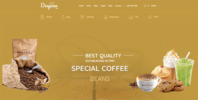 Despina - Coffee, Cake & Restaurant WordPress Theme