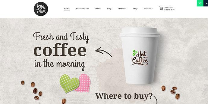 Hot Coffee | Cafe / Restaurant / Bar Theme