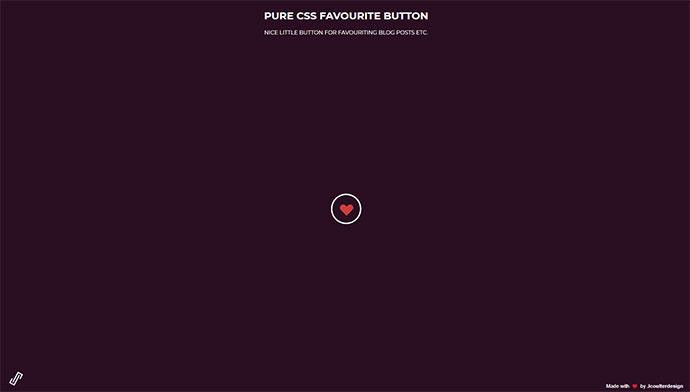 CSS Favourite Button