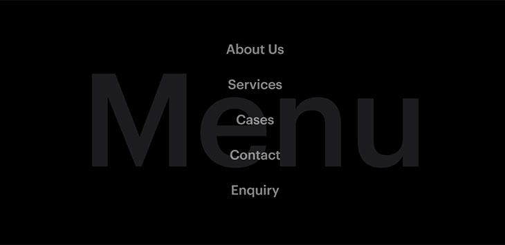 25 Fullscreen Overlay Navigation Menu Web Designs