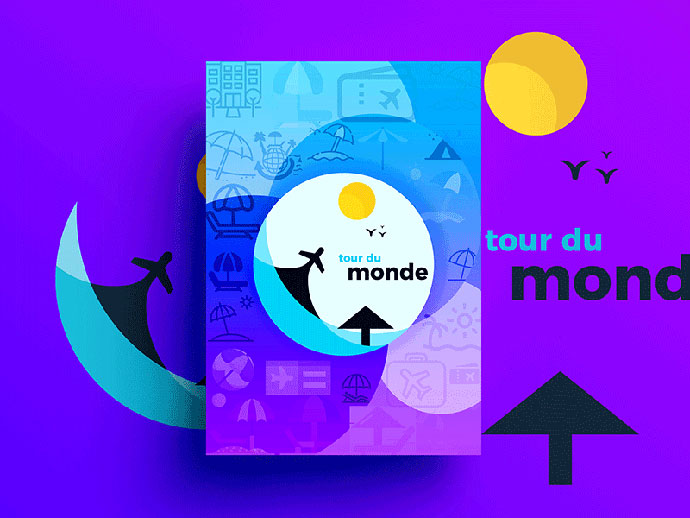 Tour Du Monde - World Tour Branding Materials