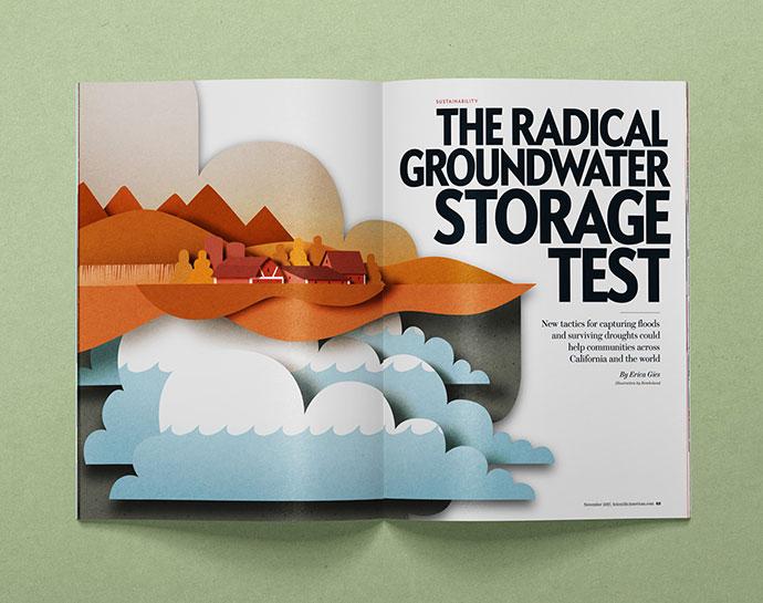 Editorial papercut illustration for Scientific American