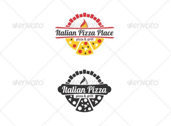 Italian Pizza Logo Template