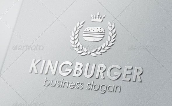 King Burger Royal Food Logo