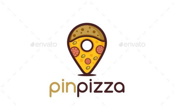 Pin Pizza Logo