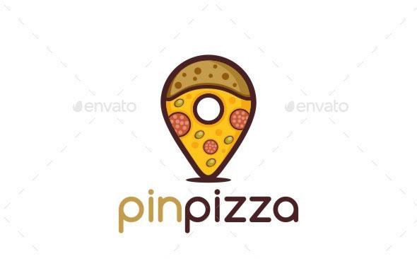 Pin Pizza Logo
