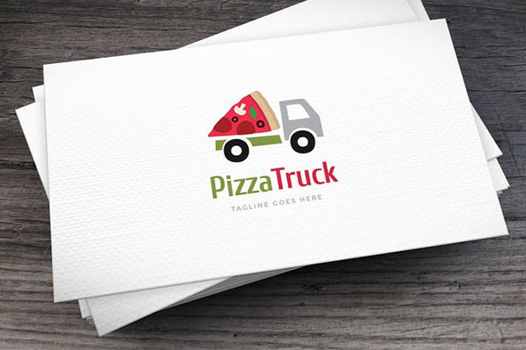 Pizza Truck Logo Template