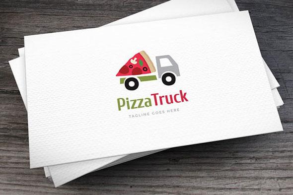 Pizza Truck Logo Template