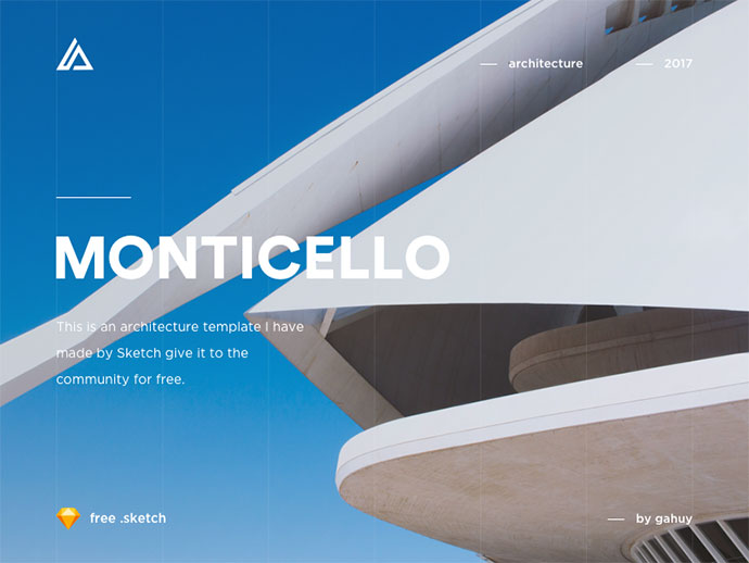 Monticello - Architecture Website Concept