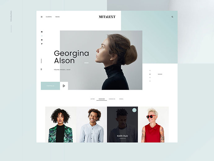 MI Talent - Free PSD Template
