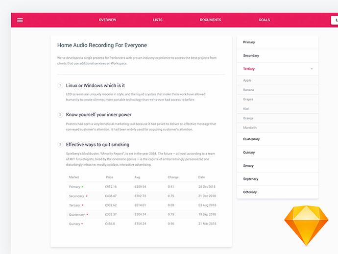 FREE Material UI Kit screen For Sketch App