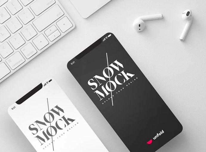 SnowMock - iPhone X