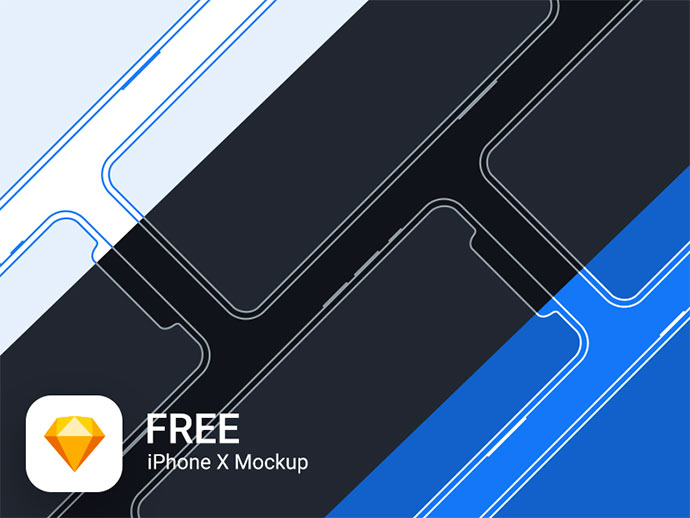 iPhone X Mockup Freebie for Sketch