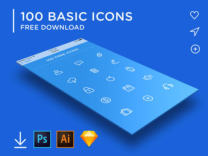 100 BASIC ICONS updated